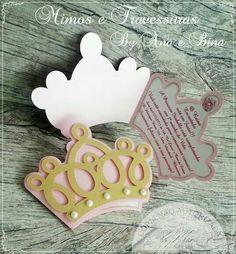 Tarjeta invitación de princesa