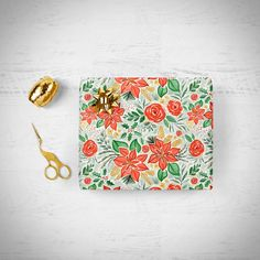 Festive watercolor christmas prints: christmas floral, snowflakes, pine and berries in red, green, mint and gold.
