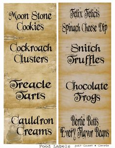 Harry Potter Food &Drink Labels.PDF