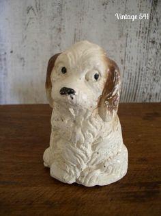 Vintage Chalkware Dog Figurine by vintage541 on Etsy