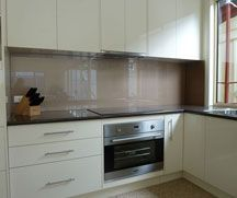 White Kitchen Grey Splashback white kitchen - dark grey splashback | our 'forever' home