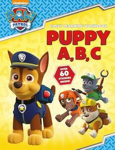 Children can practise the alphabet with all their favourite pups from PAW Patrol! This full-colour book includes two pages of stickers. Home Learning, Early Learning, Paw Patrol, Coloring Books, Colour Book, Alphabet, Mighty Ape, Puppies, Children