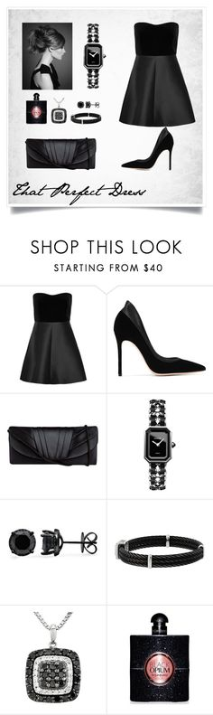 """""""That Perfect Party Dress 018"""" by chinkie28 ❤ liked on Polyvore featuring RED Valentino, Gianvito Rossi, Jessica McClintock, Chanel and Yves Saint Laurent"""