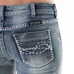 Cowgirl Tuff Women's Roller Coaster Boot Cut Jeans Jrolco