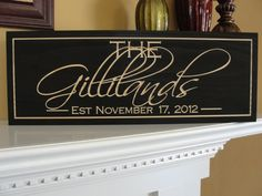 Personalized Family name signs last name signs Bridal shower decor Engraved signs Custom Personalized wedding gift Established family signs. $33.00, via Etsy.