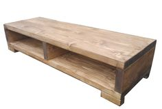 The XLarge Traditional Rustic TV Stand - Hand crafted shabby chic solid beam: Amazon.co.uk: Kitchen & Home