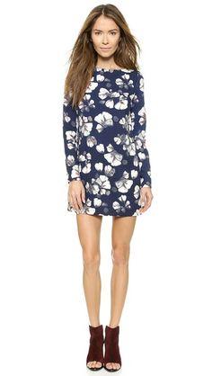 re:named Long Sleeve Floral Shift Dress