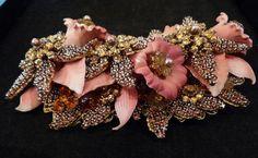 Stanley Hagler Brooches | Stanley Hagler Pink Floral Bouquet Brooch at 1stdibs