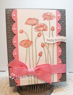 Happy Birthday Poppies. $4.00, via Etsy. or  itsastampthing-vicki.blogspot.com