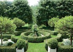 Litchfield - formal garden - topiary - hedges