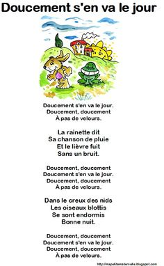 Comptine Doucement French Teaching Resources, Teaching French, French Poems, Kids Poems, French Classroom, Petite Section, Puffy Paint, Rainbow Theme, Teaching Language Arts