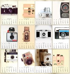 2013 Vintage camera calendar
