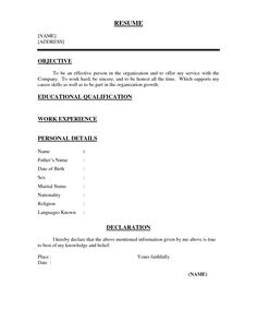 Latest Resume Format For Freshers Magnificent Resume Format Latest 2018  Resume Format  Pinterest  Resume .