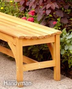 Assemble this attractive, comfortable garden bench. We show you how to build it so it's strong and durable, using a simple biscuit joinery technique.