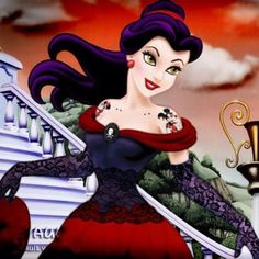 Disney Belle goes purple punk Disney Punk Edits, Emo Disney, Film Disney, Dark Disney, Disney Girls, Disney Art, Ariel Disney, Disney Magic, Disney Movies