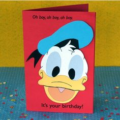 Invitación de cumpleaños del pato Donald - http://xn--manualidadesparacumpleaos-voc.com/invitacion-de-cumpleanos-del-pato-donald/