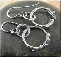hammered silver circles