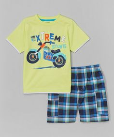 Look what I found on #zulily! Yellow 'Extreme Stunts' Tee & Shorts - Infant, Toddler & Boys by Kids Headquarters #zulilyfinds