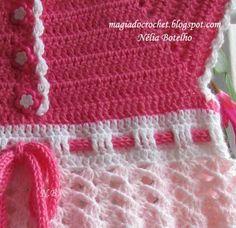"""Magia do Crochet: Vestido em crochet e o meu """"knitting mill"""" ou tricotin"""