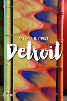 Art on the Street - Detroit Edition. Background art by Hoxxoh | Duende by Madam ZoZo #streetart #urbanart #grafitti #mural #Detroit #travel #art