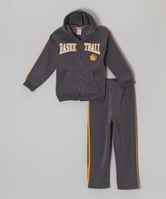 Love this Gray 'Basketball' Hoodie & Pants - Infant, Toddler & Girls by Hemisphere on #zulily! #zulilyfinds