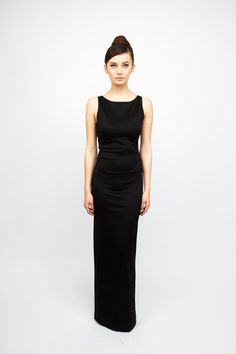 Long Black Dress. No Sleeves. Audrey Hepburn Inspired