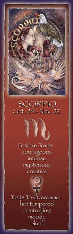 Zodiac Series / Scorpio - Bookmark by Jody Bergsma Scorpio Characteristics, Scorpio Traits, Zodiac Signs Scorpio, Zodiac Art, Astrology Zodiac, Bookmark Printing, Scorpio Woman, Moon Signs, Romantic Pictures