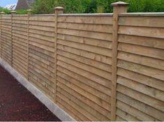 overlap horizontal fence