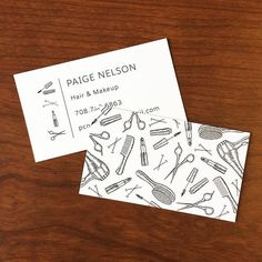Business cards for one of Chicago's up-and-coming hair & makeup artists! Thanks for giving me creative freedom