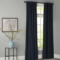Ophelia & Co. Aldora Gray Area Rug & Reviews | Wayfair Home Curtains, Grommet Curtains, Panel Curtains, Curtain Panels, Blackout Curtains, Wallpaper Roll, Peel And Stick Wallpaper, Farmhouse Area Rugs, Classic Curtains
