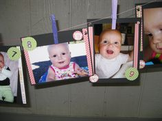 Monthly photo banner for first birthday.