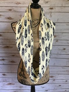 Feathers Scarf Feather Infinity Scarf Feather Accessories