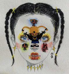 Drawing Journal, Art Sketchbook, Indie Drawings, Art Drawings, Arte Lowbrow, Arte Dope, Pix Art, Hippie Art, Aesthetic Art