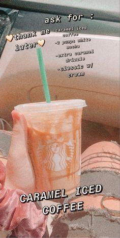 Bebidas Do Starbucks, Healthy Starbucks Drinks, Yummy Drinks, Starbucks Secret Menu Drinks, Starbucks Hacks, Starbucks Coffee, My Coffee, Coffee Drink Recipes, Coffee Drinks