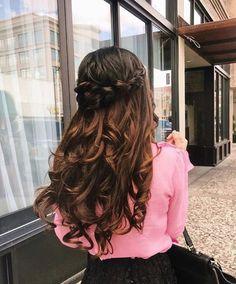 Half-Up Loop Braid Hairstyle Tutorial