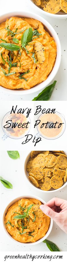 A healthy Navy Bean Sweet Potato Dip Recipe or non-chickpea hummus. Onion and garlic free and perfect protein for your lunch box.