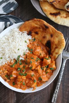 Indian Butter Chicken (Murgh Makhani) The butter chicken sauce is thick, creamy and rich; I always serve the dish with a side of naan bread to dip in the extra sauce. This is one of those meals where you can't help but go back for a second helping. Butter Chicken Rezept, Butter Chicken Sauce, Indian Butter Chicken, Butter Pasta, Butter Shrimp, Steak Butter, Makhani Recipes, Curry Recipes, Chicken Makhani