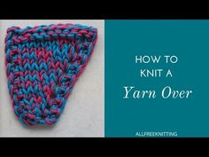 Learn how to knit the YO increase in this helpful video tutorial. The yarn over increase is the easiest increase you'll come across in knitting. Check it out! Easy Knitting Patterns, Lace Knitting, Knitting Stitches, Knitting Designs, Baby Patterns, Knitting Projects, Crochet Patterns, Knitting Tutorials, Knitting Increase