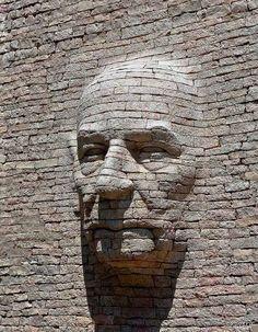 Street Art - Stone Carving-by Emmanuel Augier in Levans, France 3d Street Art, Street Art Graffiti, Graffiti Artists, Wall Street, Stone Sculpture, Art Sculpture, Sand Sculptures, Sculpture Ideas, Abstract Sculpture