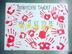 Päiväkotiin ystävyysprojekti, johon koko ryhmä osallistuu ja sitoutuu  ryhmä saa tähden jokaisen päivän päätteeksi jos kaikki on ollut hyviä ystäviä toisilleen ❤️ tavoitteena viisi tähteä perjantaina ⭐️⭐️ #päiväkoti #varhaiskasvatus #ystävyys #ystävä #lastentarhanopettaja