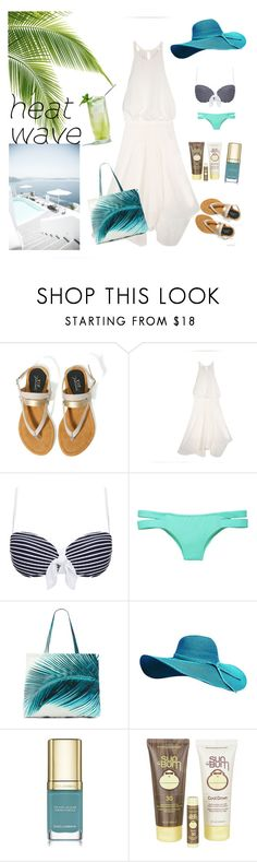 """""""summer at the beach outfit"""" by noviandri-ronal ❤ liked on Polyvore featuring Heidi Klein, Victoria's Secret, Amuse Society, Dolce&Gabbana and Sun Bum"""