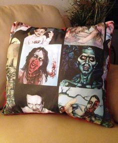 ZOMBIE APOCALYPSE Lavender Scented Pillow by HappyDogGoodies, $19.99