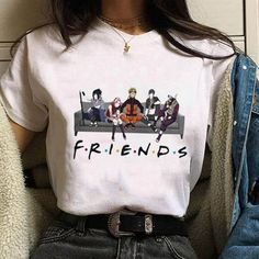 Anime Inspired Outfits, Anime Outfits, Fashion Outfits, T Shirt Fashion, Naruto Shirts, Naruto Clothing, Mode Lolita, Unisex Fashion, Fashion Women