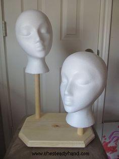Painting Styrofoam Heads For Hat Display Diy Pinterest