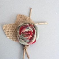 """$11 Rustic Boutonniere - Boutineer- Shabby Chic - Rustic Wedding..    REAL COUNTRY CHIC..I LOVE THE PLAID..  ~~~~~~~~~~~~~~~~~~~~~~~~~~  I CAN MAKE THE ROSE IN ANY COLOR..  JUST CONVO MY. LET ME KNOW WHAT YOUR COLORS ARE.. THANKS"""".. :)"""
