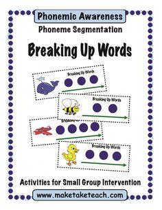 8 Great Ideas for Teaching Segmenting and Blending   Make, Take & Teach