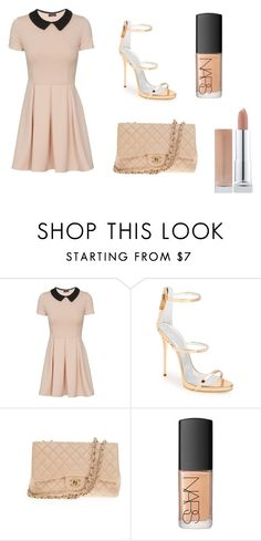 """Simple peters"" by asiannaluxxx on Polyvore featuring Giuseppe Zanotti, Chanel and NARS Cosmetics"