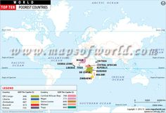 Top Poorest Countries Map #sschat