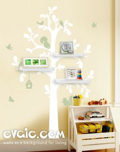 Shelving Tree Wall Decal – Nursery Wall Stickers