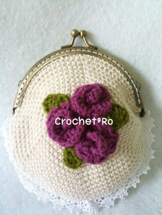 Rose coin purses crochet